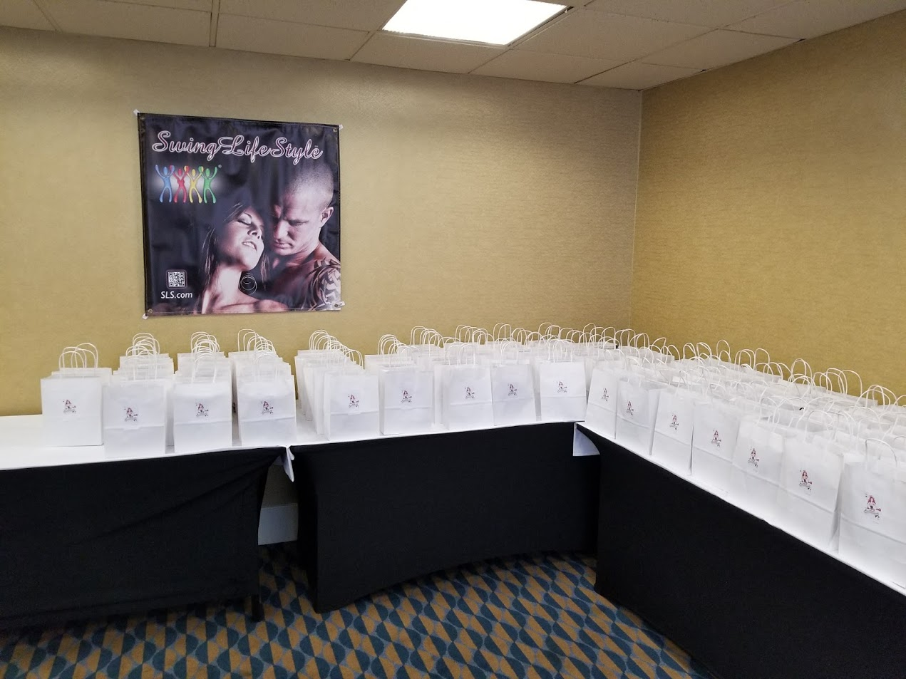 Putting together goodie bags for one of our hotel takeovers.